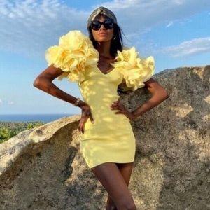 Zara Contrasting Mini Dress